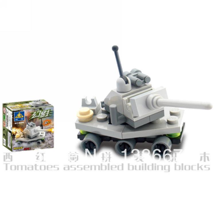 8008 Kazi Mini Army Building Blocks Tank Assembling Toys Educational for Children model toy compatible with mega blocks(China (Mainland))