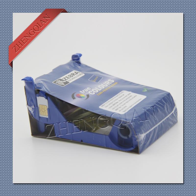 Zebra card printer ribbon zebra 800017-201 black id card printer ribbon for use zebra p110i pvc card printer(China (Mainland))