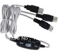USB to MIDI Keyboard Interface Converter Cable Adapter 2M(China (Mainland))