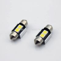 4pcs Canbus 31mm 2 LED Bulb White Dome Map Door Glove Box Trunk Interior Light 12V-24V No Error