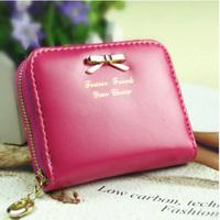 Fashion Women Lady Mini PU Bow Leather Purse Wallets Card Holders Handbag #58465