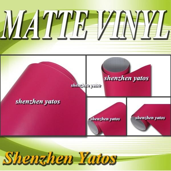 Matte Rose Vehicle Vinyl Wrap / 3M Air Bubbles/ 5M /10M/15M/20M/30M(China (Mainland))