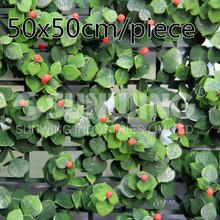 12pcs 50x50cm cerca de hedge artificial hedges falsificação de hedge buxo para o exterior DIY decoração de jardim Frete Grátis- G0602A011A(China (Mainland))