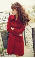 Spring women's coats Autumn 2014 new women casual fashion coat ladies windbreaker jacket for women clothing woollen coat