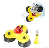 2014 New arrival Gopro Removable Car Suction Cup Gopro Accessories + Aluminum Adapter Mount +Screw For Gopro Hero 3+/3/2/1