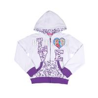 fashion Cartoon sweatshirts child frozen hoodies baby girls long sleeve outerwear long winter coats for girls cotton clothing