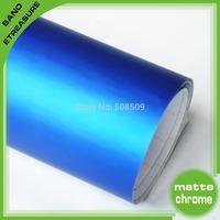 Handsome Blue Matte Chrome Car Wrap Vinyl Size 1.52x20m Air Drain