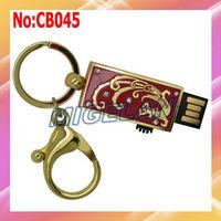 2014 New Sale Metal USB flash Drive 64GB Stick Flash Memory Card PenDrive 32GB with Key chain stock Free shipping  #CB045