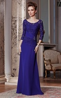New Cheap Lace Applique Beading Chiffon A-line Formal Mother Of The Bride Dresses