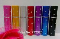 2014 New Design Plum Point Perfume Bottles Lipstick Style 5ML Mini Spray Bottle Portable Perfume Atomizer with DHL Free Shipping
