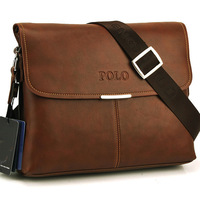 HOT Sell High Quality men messenger bag ,fashion pu leather male shoulder bag ,casual briefcase brand name bags
