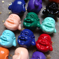 HOT SALE Cool 20mm Manmade Turquoise Buddha-Head Beads For Jewelry Making 10pcs/lot