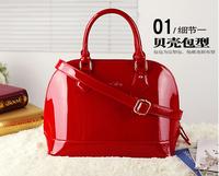 patent leather handbag 2015 spring and summer tide shell shoulder bag diagonal fashion handbags bridal messenger bags