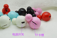 PROMOTION  children toys  Mini Mickey Mouse MP3 Music Player Support Micro SD/TF Card With Earphone&Mini Usb Free Shipping