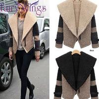 2014 New Autumn Winter Women Thickening Coat Jacket Clothes Casual Women's Wear Feminino Lambs Wool Outerwear Winter Coat PH1703
