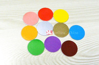 25mm 10pcs PVC Colorful NFC Tags 13.56MHz IC Access Card ISO 14443A 1K with Adhesive Back