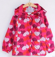 2014 Retail new  wind and rain in spring and autumn topo lino girls trench coat jacket free shipping