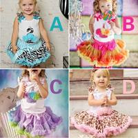 2014 new arrivel baby girl clothing set pink diaper cake vest+saia /roupa para bebe roupas femininas no atacado wholesale 5sets