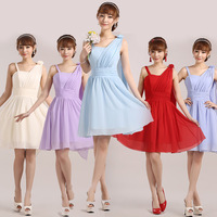 New arrival design short formal dress bridesmaid clothes sister dress marriage dress evening dress bridesmaid dress skirt YF032