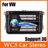 "2014 New Universal 8"" Touch Screen 2 Din Car DVD Player w/ ATV GPS 3G GPS Bluetooth AM/ FM Stereo Audio For Volkswagen Skoda"