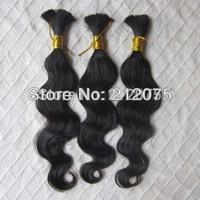 "12""-30""inches 3pieces/lot Brazilian virgin body wavy human hair extension *bulk hair*"