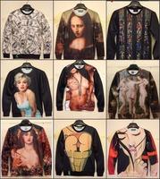 2015 new fashion women's / men's Tiger Tops 3D sweatshirt pug / naked sexy leopard print 3D knit hoodie top S / M / LXL