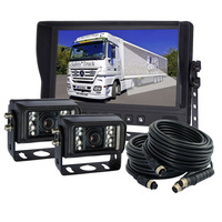 """9"""" Digital LCD Car Rear View Camera Kit & 2pcs Waterproof CCD IR Reverse Camera"""