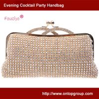 Kiss lock high class diamond wedding party handbag  - women clutch - essentials holder bag