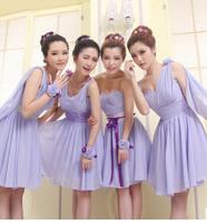 2014 new bridesmaid dress short paragraph sister group bride dress bridesmaid dress