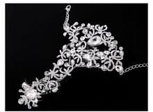 Free Shipping Luxury Rhinestone Flower Bridal Wrap Bracelets Wedding Jewellery Fashion Bling Marriage Accessories