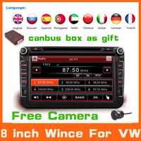 2Din 8 inch Car DVD Gps For Volkswagen VW Skoda POLO PASSAT CC JETTA TIGUAN TOURAN SHARAN CADDY GOLF 5 6 Fabia Superb GPS Audio