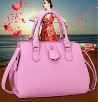 2015 new wave of female models simple OL summer bag pattern shoulder portable leather handbags
