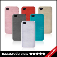 Sample Free Shipping / Direct Plastic Brushed Case Cover for IPhone 4 4s