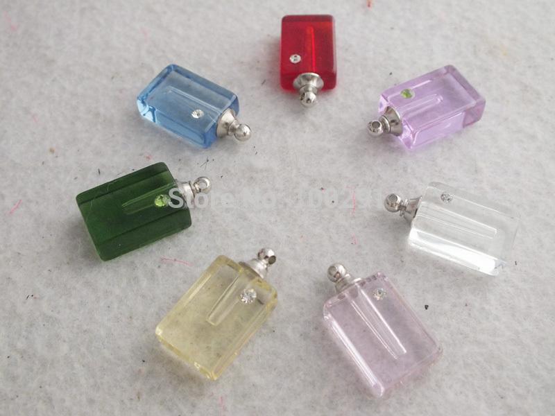 W-1202 atacado 100 pcs de várias cores cristal Perfume Vial pingente garrafa(China (Mainland))