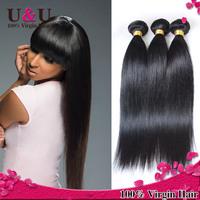 Ms Lula Hair Grade 6A Malaysian Virgin Hair Straight Human Hair Weave Natural Black Color Virgin Malaysian Hair Straight