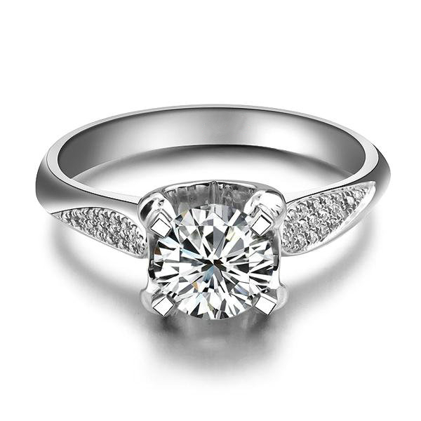 1Ct Sightly Ring for Girl Certified SONA Synthetic Diamond Rings for Women St