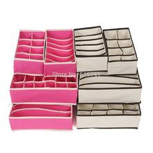 4pcs/set Drawer Dividers Closet Organizers Bra Underwear Ties Socks Storage Boxes Free Shipping(China (Mainland))