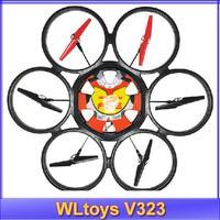 Free Shipping 2014 WLtoys V323 2.4G Remote Control Toys 4CH 6 Axis Gyro RC Quadcopter drone Headless Mode RTF VS V262 V912 v911