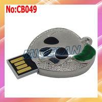 2014 new arrival Sale rushed Free shipping Metal pen driver Skull USB Flash Drive memory stick PenDrive 64GB stock  #CB049