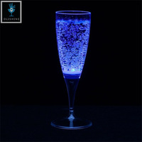 High Quality Decoration Flashing Led Plastic Goblet Cup