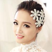 Plum Bridal Hair Accessories Rhinestone Flower Hairpins,Crystal Wedding Accessories Hair Jewelry Free Shipping