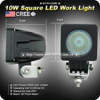 2pcs 10W Cree LED Work Light 90 degree Flood Lamp Driving12V Car 4x4 Motorcycle ATV Boat