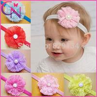 Baby Hair Accessories Girls Headband Flower Baby Lace Headbands For Girls Flower Hairband Girls 16 pieces/lot CN-14062737