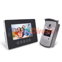 2014 NEW 7 inch TFT Video Door Phone Bell Viewer Camera Monitor Touch Buttons Unlock Doorbell Home Camera Intercom System
