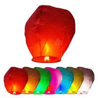 50pcs Large Shape Chinese KongMing Wishing Fly Sky Lanterns Fire Large Sky Lanterns Wish lanterns Balloon Heart Sky Lanterns
