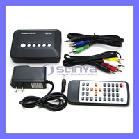 Full HD 1080P Media Player RM/RMVB/AVI/MPEG Multi Media HDD TV Player Remote Control