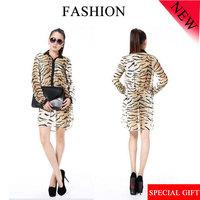 Summer Women 2014  New Fashion Tiger Slim Long-Sleeved Chiffon Dresses For Sale