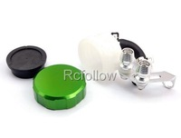 Green Universal Brake Fluid Reservoir For Yamaha YZF R1 R6 FZ1 FZ6 FJR 1300 R6S