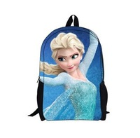 2014 New Hot Sale Fashion Forzen Snow And Ice Colors Queen's Big Adventure Cartoon Book Bag School Lovely Children's Backpack