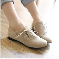 2014 Autumn New Women Ankle Boots Flat Heels slip on women causal flats shoes 6A22
